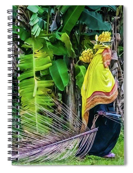 Banana Harvest, Zanzibar, Tanzania Spiral Notebook