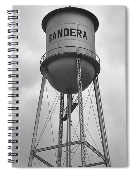 Bandera Water Tower In Texas Spiral Notebook