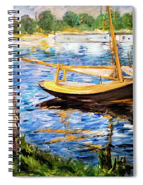 Banks Of The Seine At Argenteuil Spiral Notebook
