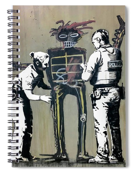 Banksy Coppers Pat Down Spiral Notebook