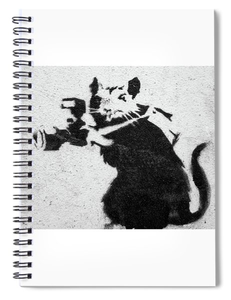 Banksy Rat With Camera Spiral Notebook