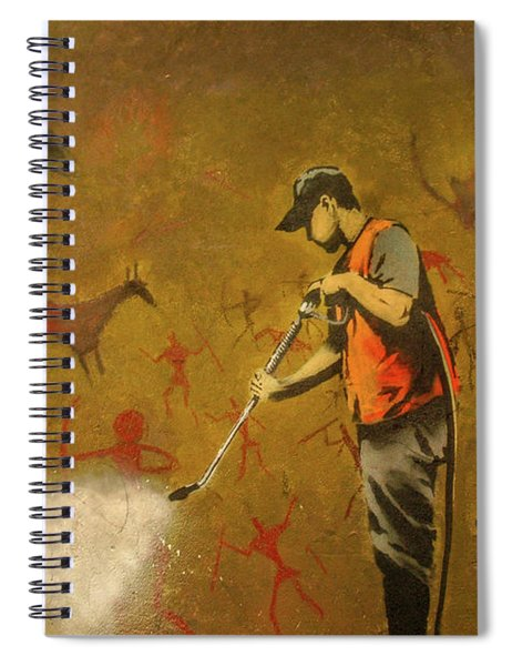 Banksy's Cave Painting Cleaner Spiral Notebook