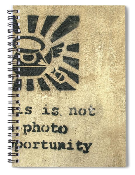 Banksy's This Is Not A Photo Opportunity Spiral Notebook