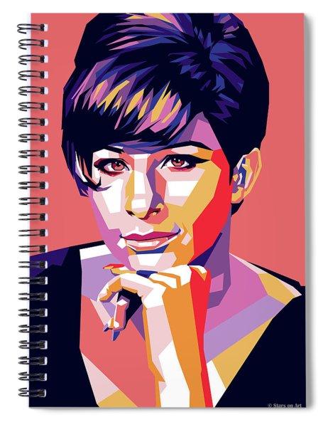 Barbra Streisand Pop Art Spiral Notebook