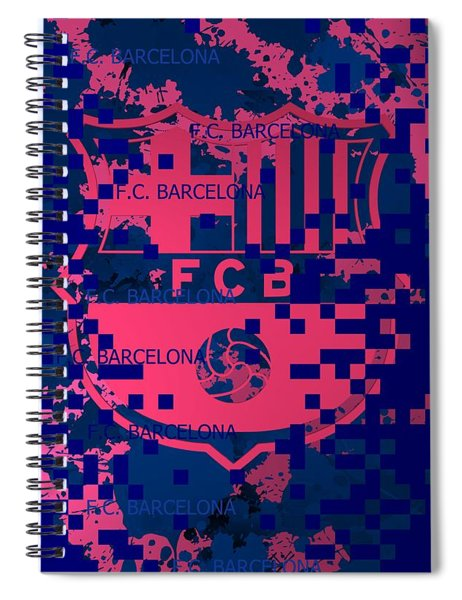 Barcelona Pixels Spiral Notebook