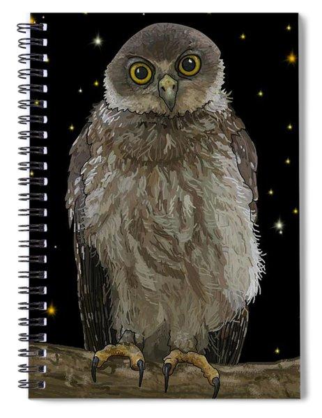Barking Owl At Night 1 Spiral Notebook