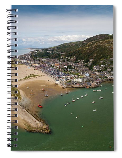 Barmouth Wales From The Air Spiral Notebook
