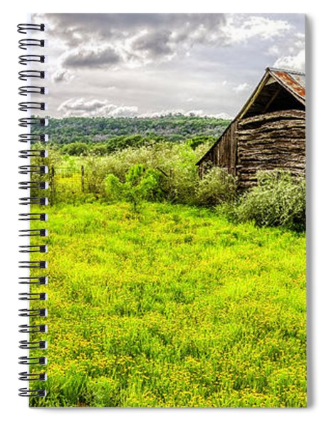 Barn On Click Gap Rd Panorama Hdr Spiral Notebook