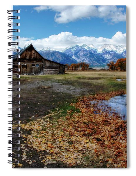 Spiral Notebook featuring the photograph Barn On Mormon Row by Scott Read
