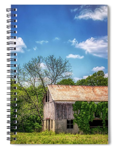 Barn With Ivy Spiral Notebook