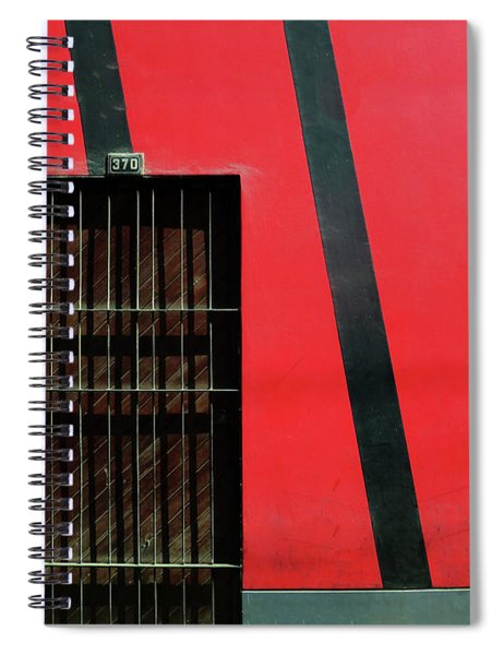 Bars And Stripes Spiral Notebook by Rick Locke
