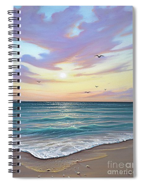 Basking In The Sunset Spiral Notebook