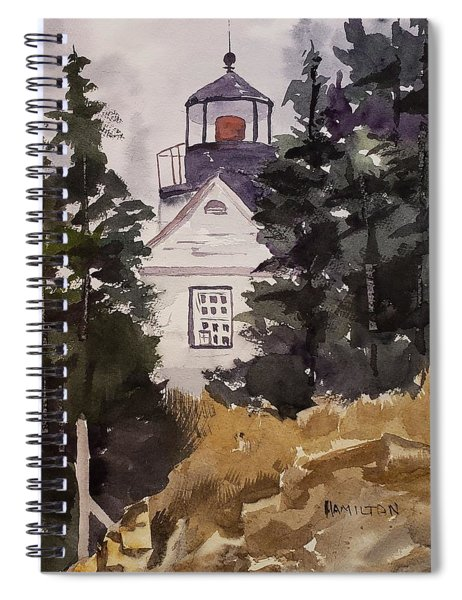 Bass Harbor Lighthouse Spiral Notebook