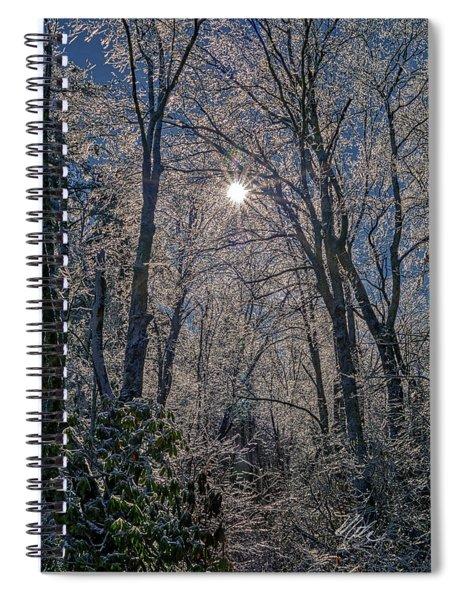 Bass Lake Frosty Spiral Notebook