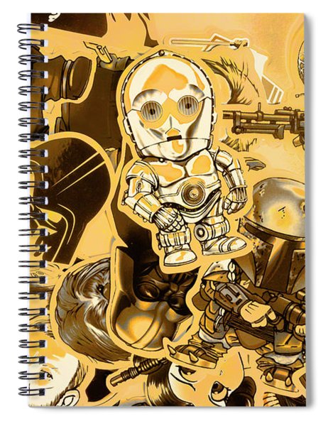 Battle Of A Sci-fi Design Spiral Notebook