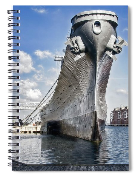 Battleship Uss Wisconsin Bb64 Spiral Notebook