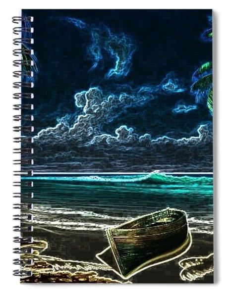 Beach At Night Spiral Notebook