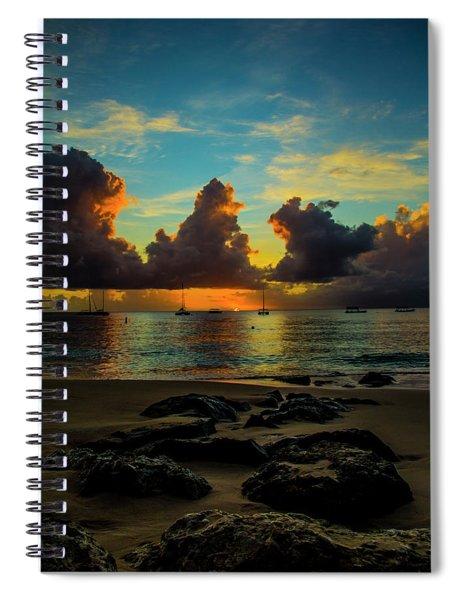 Beach At Sunset 2 Spiral Notebook