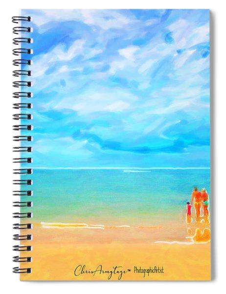 Beach Blues II Spiral Notebook