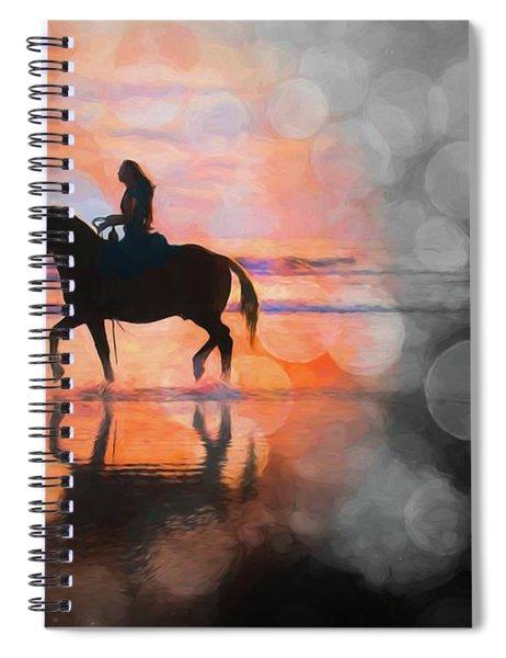 Beach Horse Bokehs Spiral Notebook