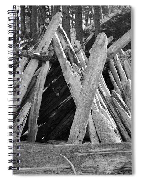 Beach Hut II Spiral Notebook