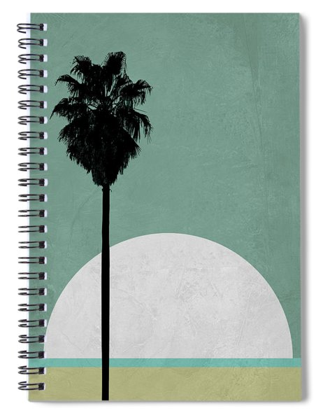 Beach Palm Tree Spiral Notebook