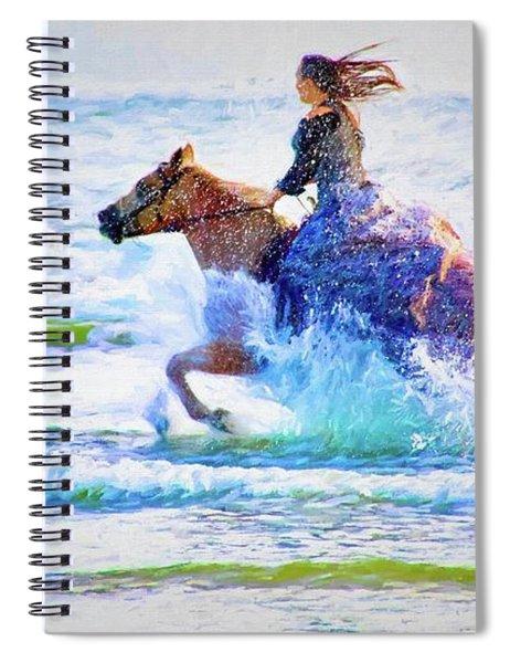 Beach Seahorse Spiral Notebook