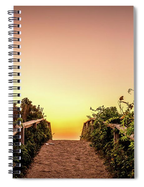 Path Over The Dunes At Sunrise. Spiral Notebook