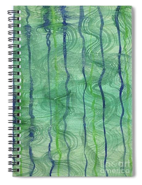 Beach Water Lines Spiral Notebook