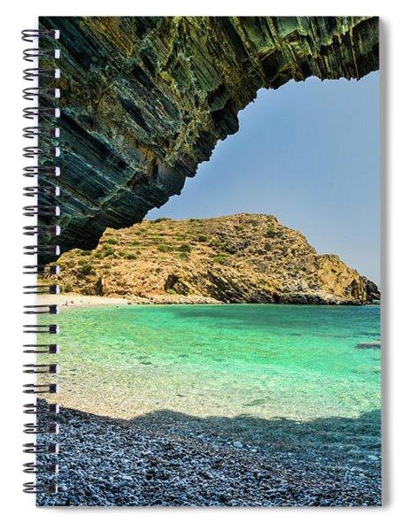 Almiro Beach With Cave Spiral Notebook