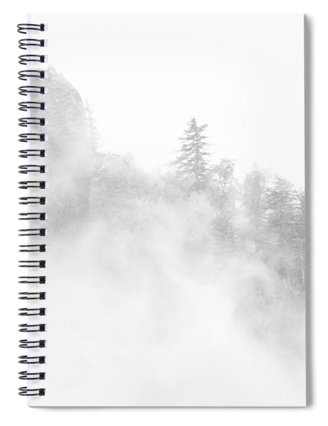 Beacon Rock In The Morning Fog Spiral Notebook