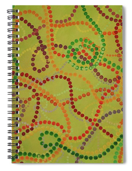 Spiral Notebook featuring the painting Beads And Pearls - September by Lisa Smith