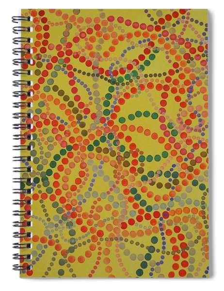 Spiral Notebook featuring the painting Beads And Pearls - Spicy by Lisa Smith