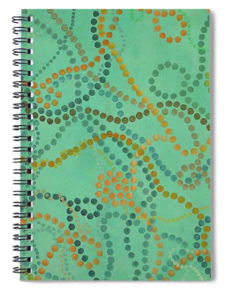 Spiral Notebook featuring the painting Beads - Under The Ocean by Lisa Smith