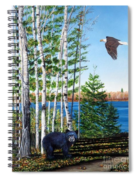 Little Bear And Eagle Wing Spiral Notebook