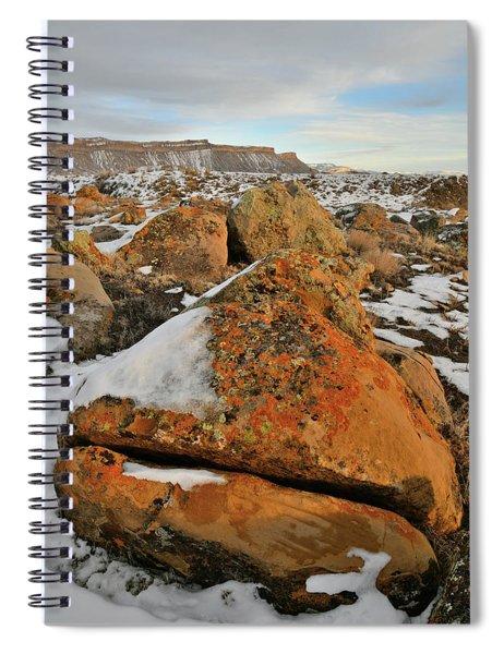 Beautiful Boulder Field Of The Book Cliffs Spiral Notebook