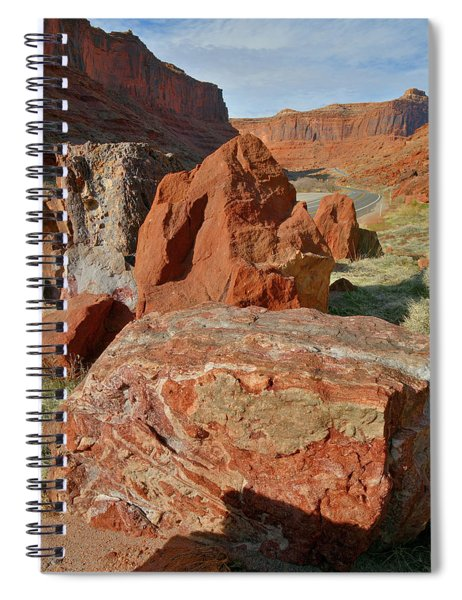 Beautiful Boulders Roadside On Highway 128 In Urah Spiral Notebook