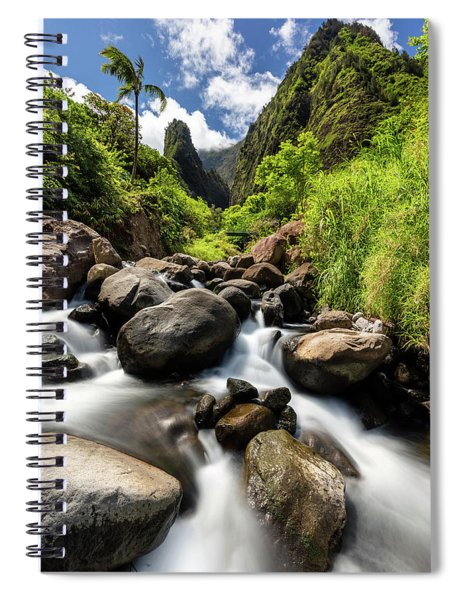 Beautiful Day At Iao Valley Spiral Notebook