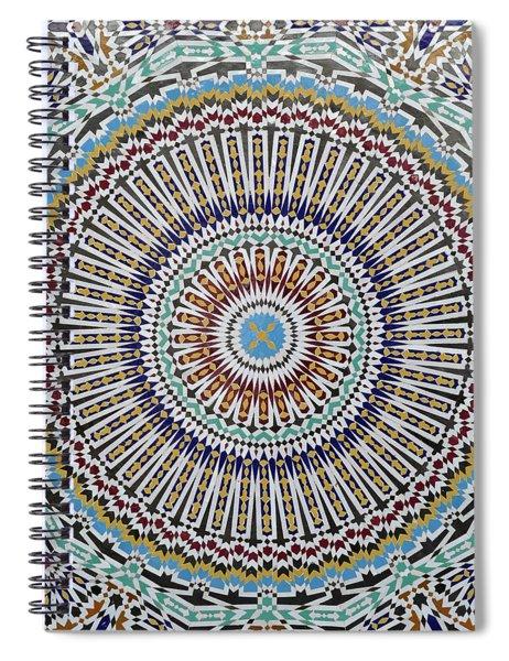 Beautiful Infinity Desgn Mosaic Fountain Spiral Notebook