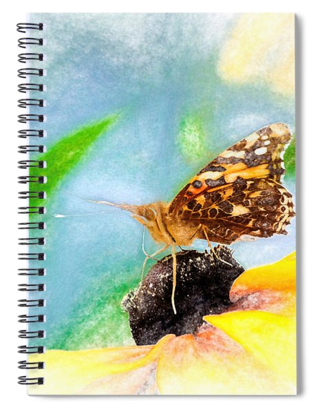 Beautiful Painted Lady Butterfly Spiral Notebook