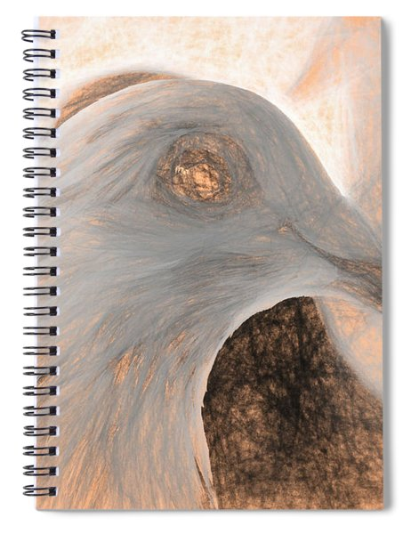 Beautiful Racing Pigeon Da Vinci Spiral Notebook