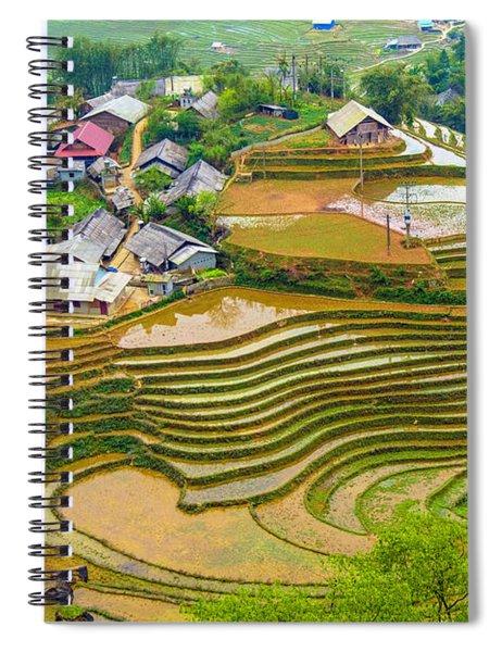 Beautiful Rice Fields, Vietnam Spiral Notebook