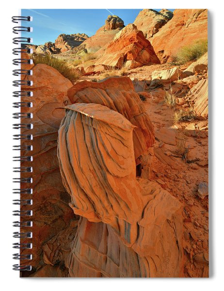 Beautiful Sandstone Forms In Valley Of Fire Cove Spiral Notebook
