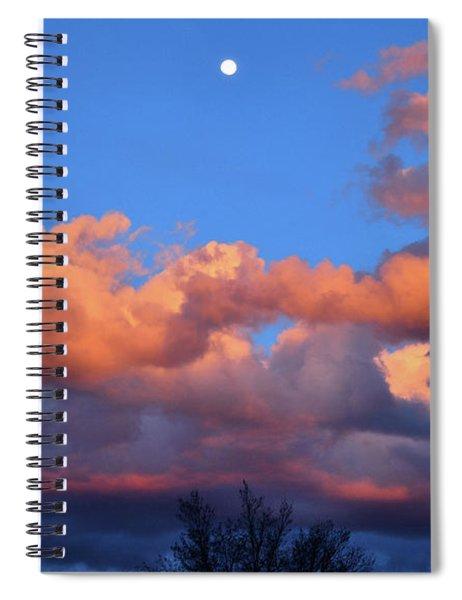 Beautiful Sunset Over Colorado Spiral Notebook