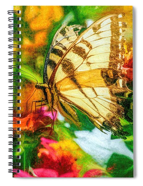 Beautiful Swallow Tail Butterfly Spiral Notebook
