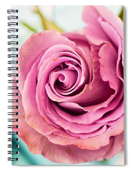 Beautiful Vintage Rose Spiral Notebook