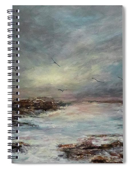 Beavertail State Park At Sunset Spiral Notebook