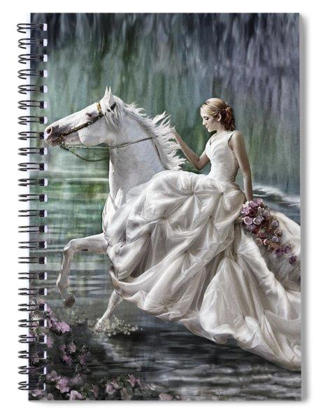 Becca's Blue Fantasy Spiral Notebook