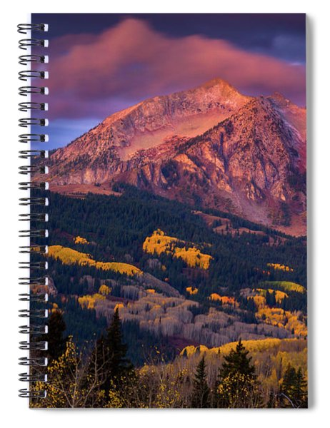 Spiral Notebook featuring the photograph Beckwith At Sunrise by John De Bord