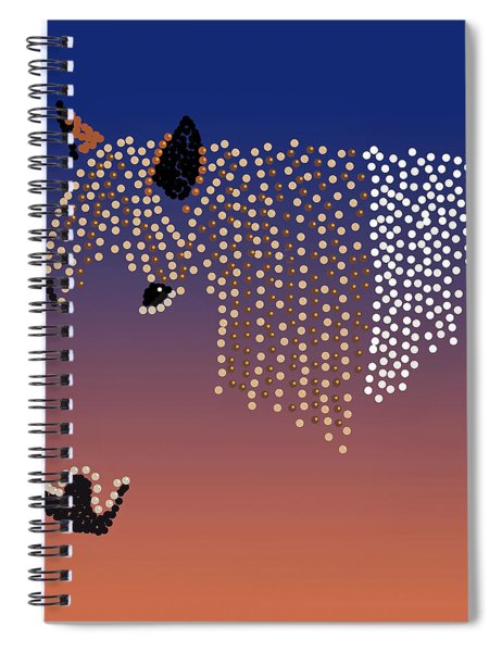 Bedazzled Horse's Mane Spiral Notebook